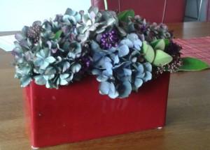 Hortensia's en paarse besjes