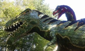 detail van de dinosaurus