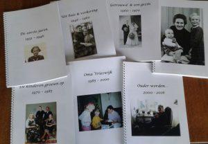 De zes hoofdstukken van het levensboek.